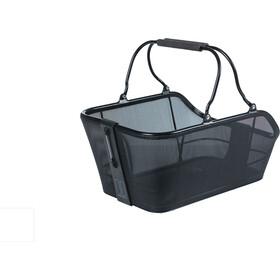 Basil Cento Tech Fiber Bicycle Basket Nordlicht MIK, solid black